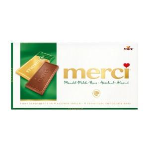 Chocolat Merci Noisette & Amandes 100 Gr
